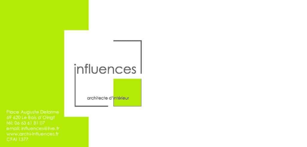 Carte de correspondance Influences