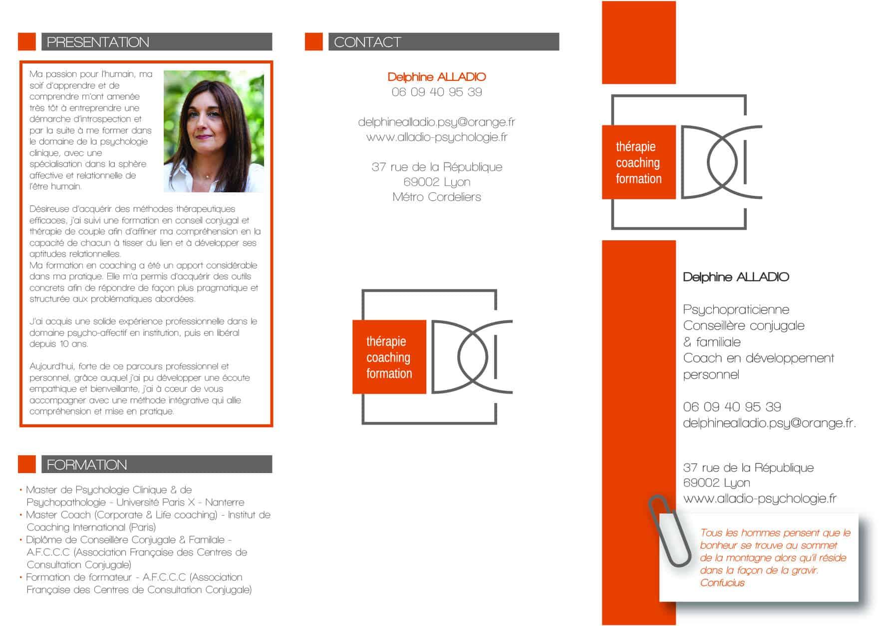 Brochure Delphine Alladio Recto
