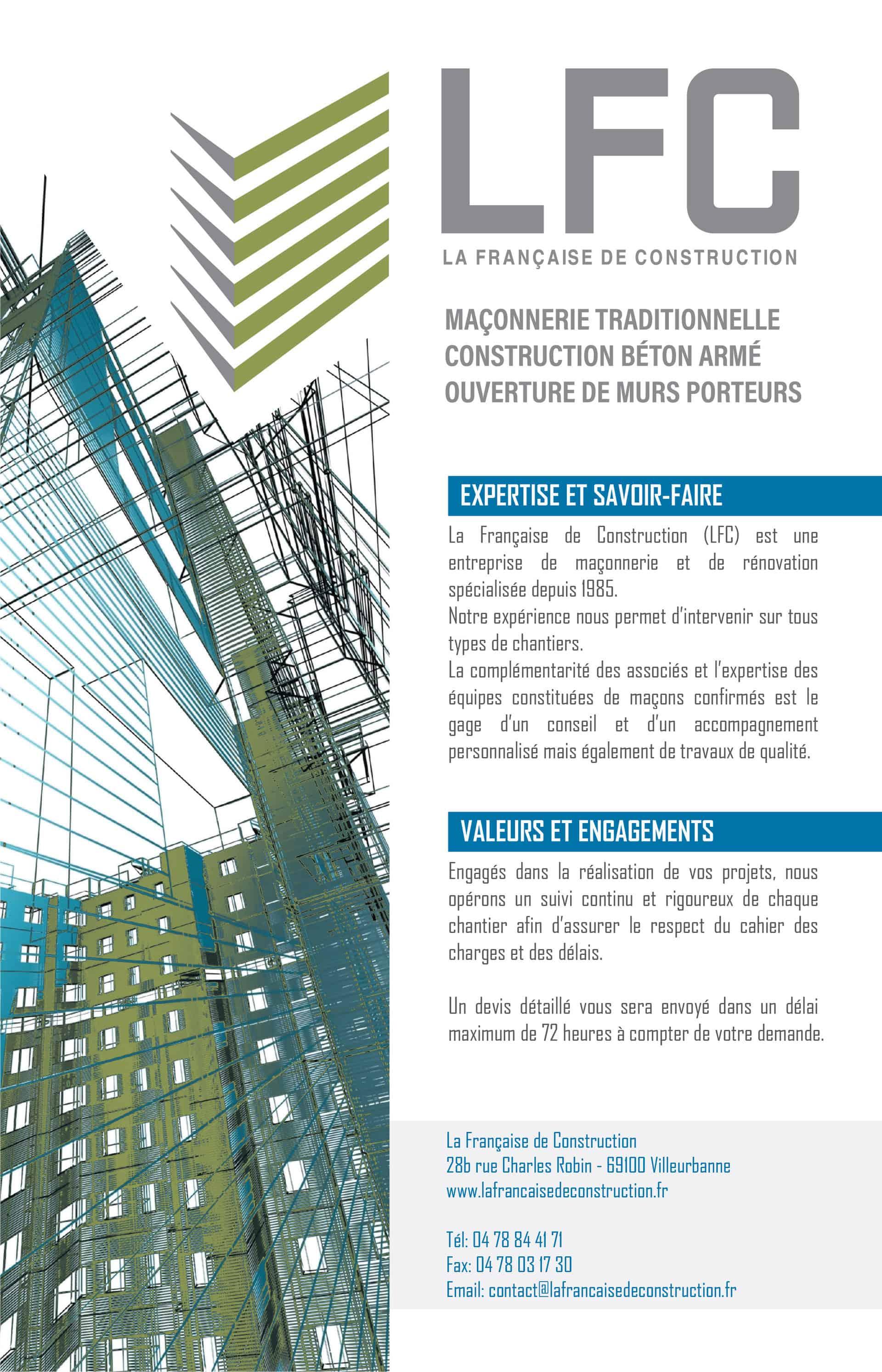 Brochure La Française de Construction Recto