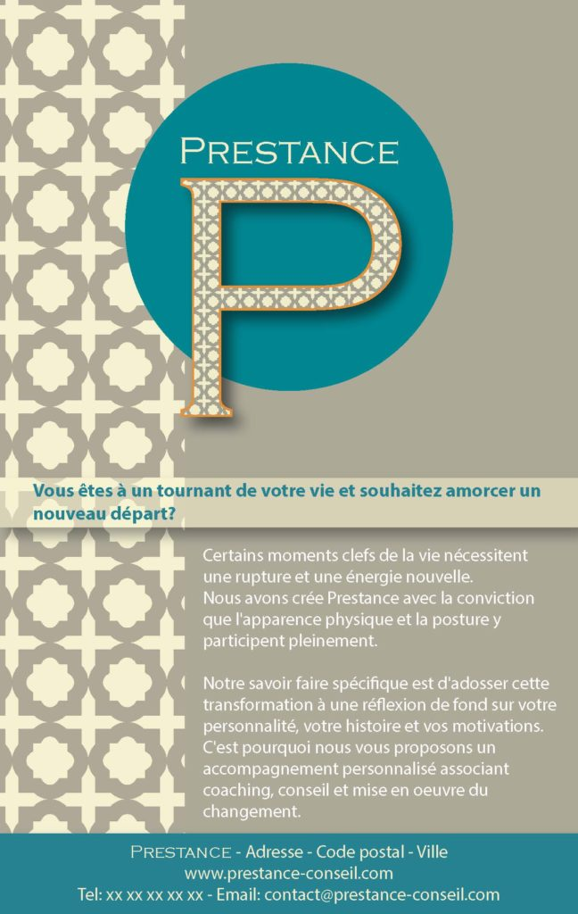 Brochure Prestance Recto