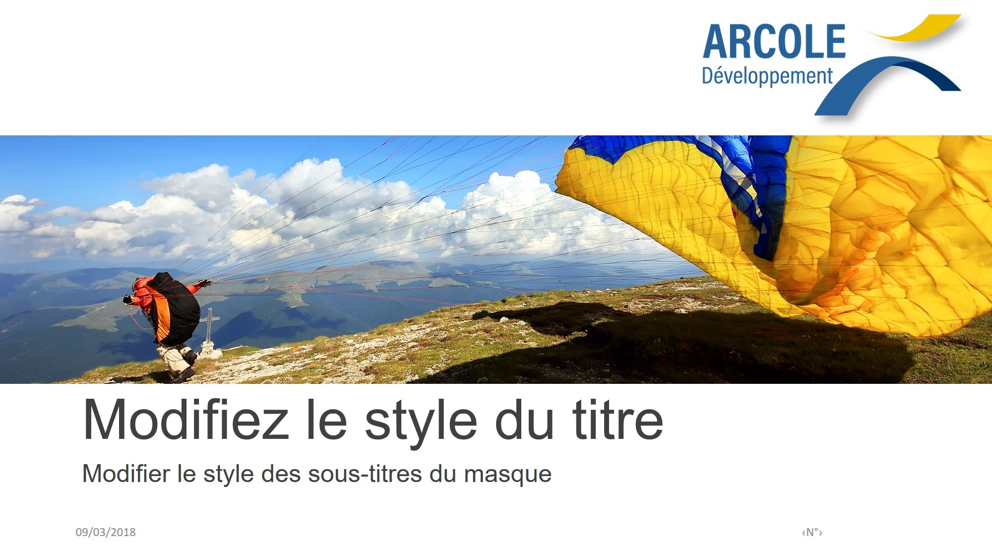Masque Powerpoint Arcole Developpement