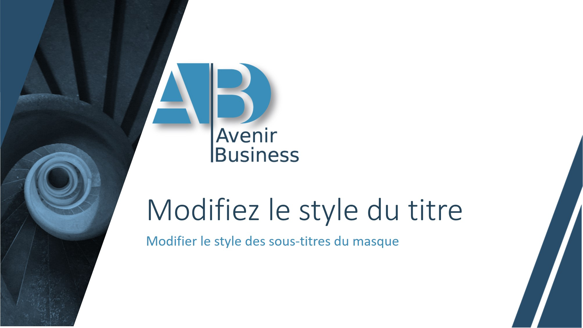 Masque Powerpoint Avenir Business